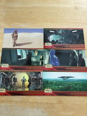 Star Wars Episode 1 Topps Widevision Complete Set Of 80 Cards Series 1 NM/M
