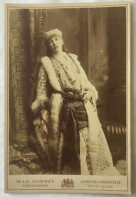 SARAH BERNHARDT as FEDORA - CABINET CARD PHOTO by W.& D. DOWNEY of LONDON
