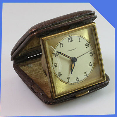 JUNGHANS Germany Portable Pocket Travel Brass Mechanical Wind-up Alarm Clock