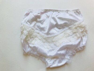 NOS  Nylon Lace White Ruffle Butts Bloomers/panties