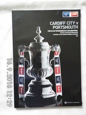 Cardiff City v Portsmouth FA Cup Final Programme - 17 May 2008