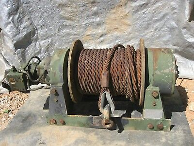 DP 45000lb Hydraulic winch with 120ft 7/8 cable