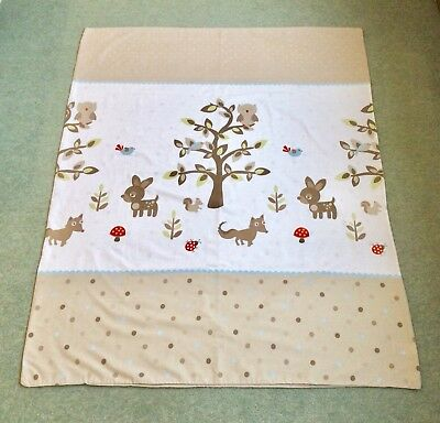 Little Angels Woodland Themed Cot Bed Duvet Cover & Pillowcase Set
