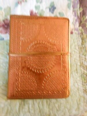 Gorgeous Stamped Leather Bound Wrap Journal With Velum Pages