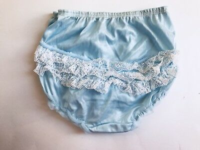 NOS  Nylon Lace Blue Ruffle Butts Bloomers/panties