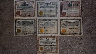 Mixed lot of vintage gold mining and oil stock certificates