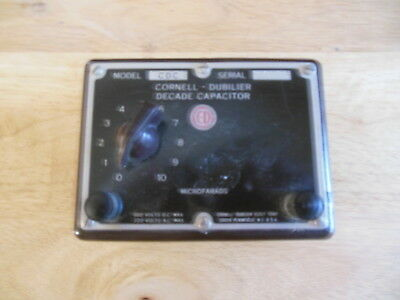 Vintage Cornell Dubilier  Decade Capacitor Cdc  Serial# 11316 600/220 V Max