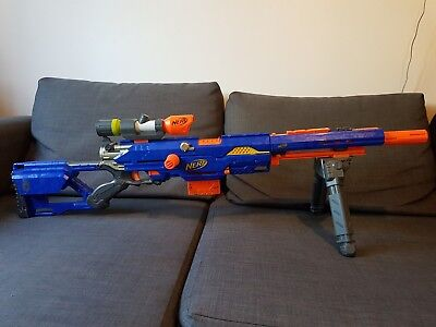 NERF Longstrike CS-6 Sniper Rifle with Scope & Bipod Attachments