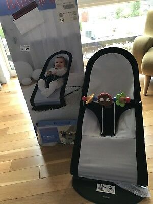 Babybjorn Bouncer Chair And Toy Bar In Original Boxes Black Grey