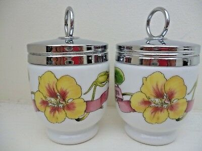 ROYAL WORCESTER PAIR OF MATCHING EGG CODDLERS COUNTRY KITCHEN STANDARD SIZE x2