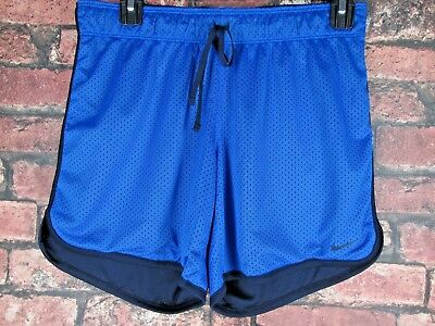 Nike Dri Fit Blue Just Do It Athletic Run Training Shorts Fitness Women S Small