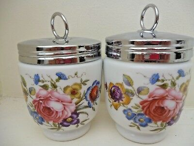 ROYAL WORCESTER PAIR OF MATCHING EGG CODDLERS BOURNEMOUTH KING SIZE x2