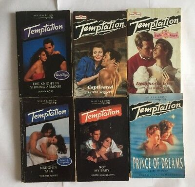 Job Lot Of 6 Mills And Boon Books Temptation Romance