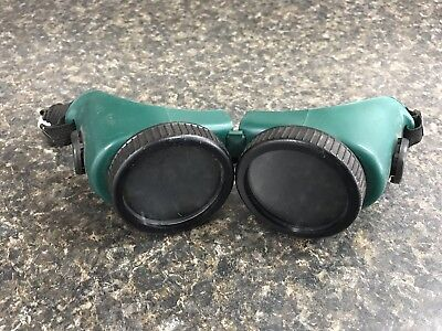 Green & Black Welding Cutting Eye Cup Safety Goggles