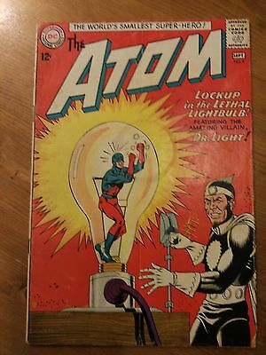 Dc comics The atom No 8 Dr light VG condition (1963). Subscrition crease.