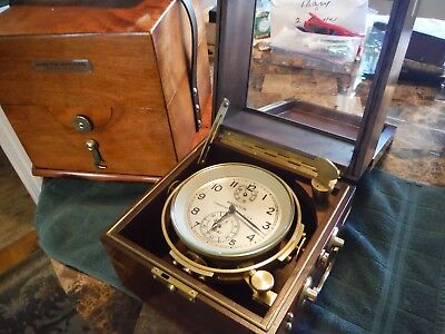 Hamilton Model 21 Ships Chronometer double boxed beautiful condition throughout!