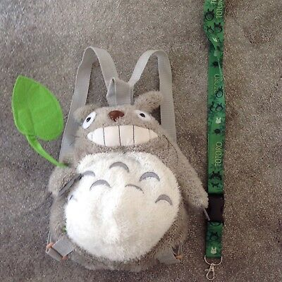 Fluffy Totoro Character Backpack With Matching totoro Lanyard
