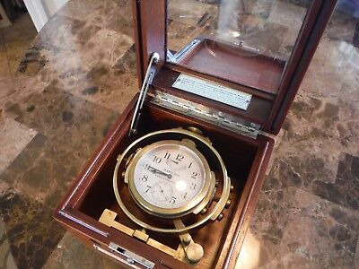 Hamilton Mounted Ships Chronometer model 22 beautiful condition running nicely!