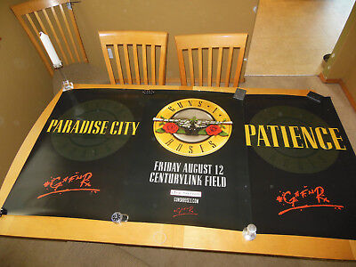 """GUNS N' ROSES """"NOT IN THIS LIFETIME TOUR"""", Patience & Paradise City Poster Set"""