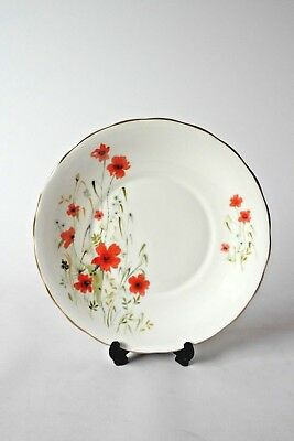 Vintage Royal Vale Bone China Dinner Plate Poppy Pattern