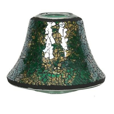 Village Candle Mosaic Mosaic Candle Jar Shade - Green and Gold Lustre **OFFER**