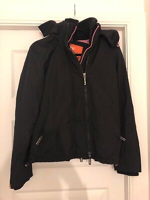 Superdry Windcheater Ladies/Womens/Girls Jacket/Coat Size MED black and pink