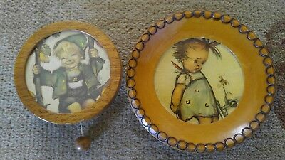 HUMMEL Solid Wood SWISS MOVEMENT Wall-Hanging Music Box Frere Jacques PLUS+