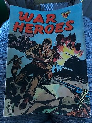 War heroes Comics #10 Golden Age 1944 Classic WWII Irish Blood Comic Book