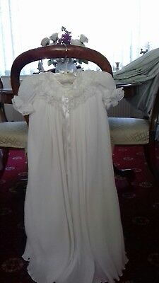 Vintage Baby's Lace Christening Gown Suitable for a Doll or teddy.