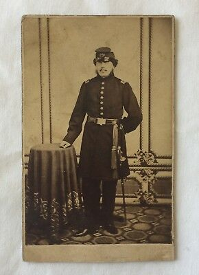 Civil War Officer  Cdv Photograph
