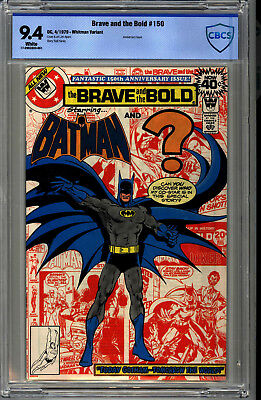 The Brave and the Bold #150 CBCS (9.4) WHITE PAGES WHITMAN VARIANT WOW!!!!