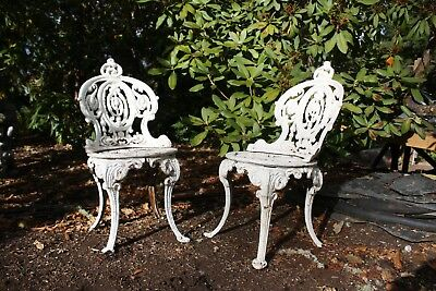 Antique Cast Iron English Lawn Chairs - Circa 1880_FREE DELIVERY IN OREGON ONLY