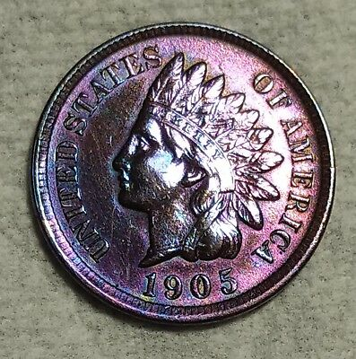 Uncirculated 1905 Indian Head Cent! Deeply toned specimen!