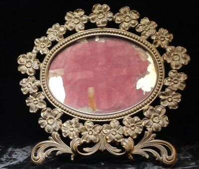 Victorian Brass , Late 19th. Century Floral Design Frame