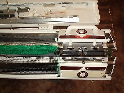 Knitting Machine Brother Mid Gauge Kh 160 + Ribber In Very Good Condition
