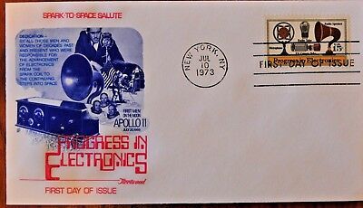 USPS, Commemorating Progress in Electronics, A First Day of Issue 1973