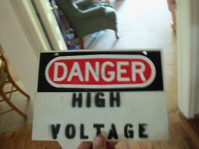 aluninium danger high voltage sign 10x7 inches