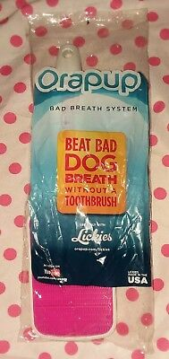 Bad Breath System for Dogs - Orapup Breath Brush Pink - NEW