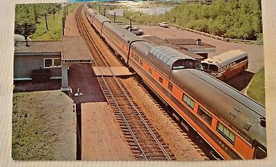Empire Builder at Chicago, Burlington & Quincy's Winona 1958 Vintage Post Card