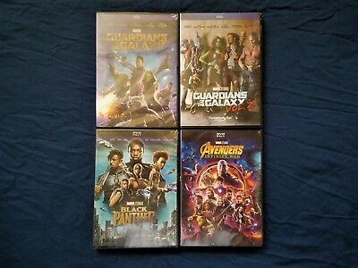 Infinity War + Black Panther Guardians of the Galaxy 1 & 2 DVD Avengers New