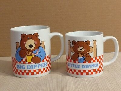 Vintage Avon Big Dipper & Little Dipper Father-Son Coffee/cocoa Mugs - Set Of 2