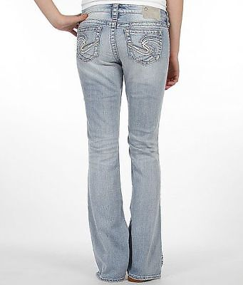 Womens Silver Jeans Light Wash Low Rise Frances Bootcut Stretch Jean 26 30 32 33