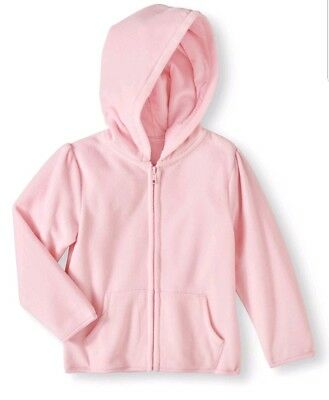 Baby toddler girl micro fleece solid hoodie size  5T