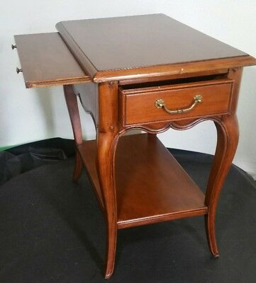 Pierre Deux French Country End Table with Extension - Task, Drawer