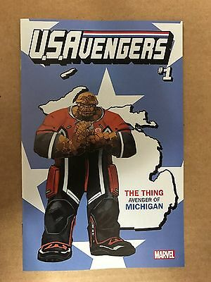 Us Avengers #1 Thing Michigan Variant Cover Marvel Comics (2017)
