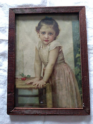 W Bovgvereav Bouguereau 1896 Lithograph Child With Cherries also called Yvonne