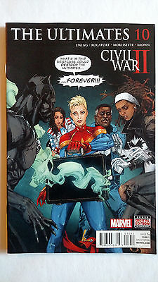 Ultimates #10 1St Print Marvel Comics (2016) Civil War Captain Black Panther