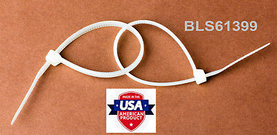 """50 USA Made TOUGH TIES 36"""" inch 175lb Nylon Tie Wraps Wire Cable Zip Ties White"""