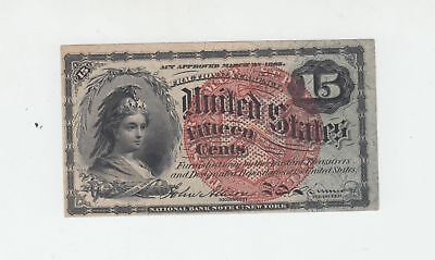 (Fr-1269)  1863 15 Cents Fractional Currency Note NICE UNCIRC