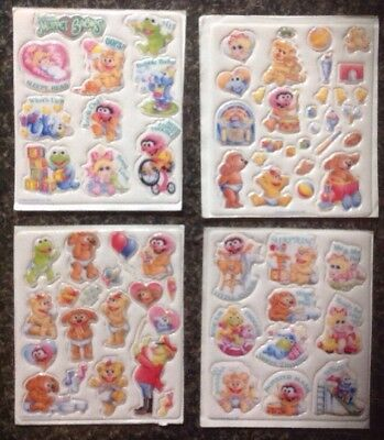 Muppet Baby Stickers - 1984 - 4 Complete Sheets